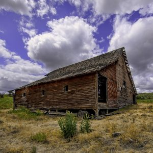 Old red barn near Wasco Oregon